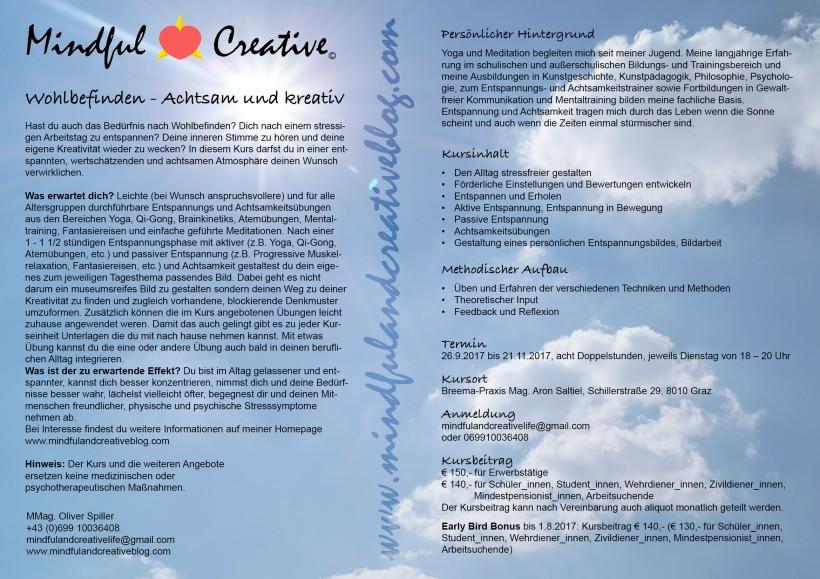 Wohlbefinden - Achtsam und Kreativ